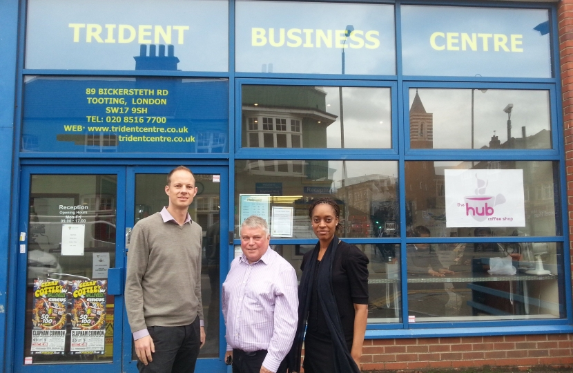Discussing start-ups with Business Launchpad team at Tooting Trident Centre