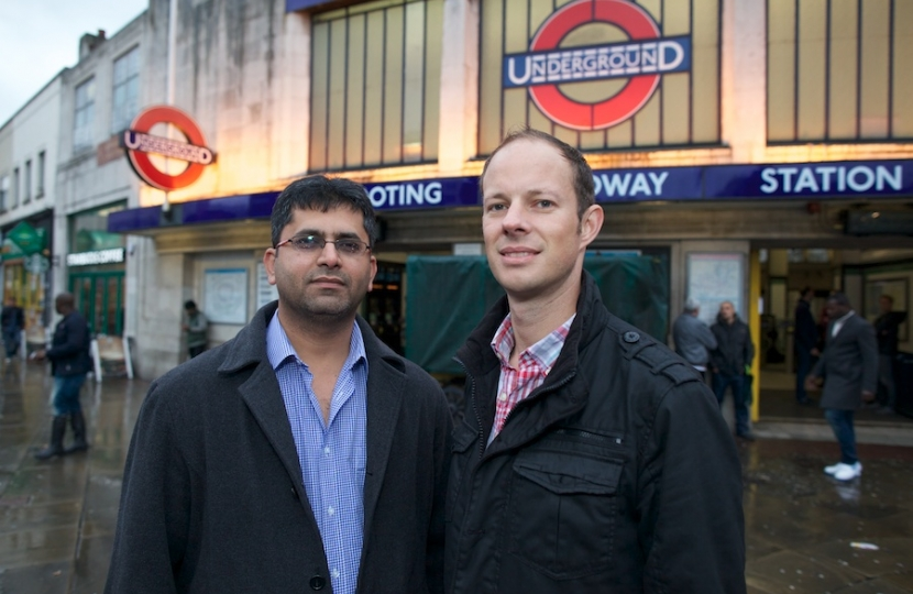 Dan Meeting Local Residents Outside Tooting Broadway
