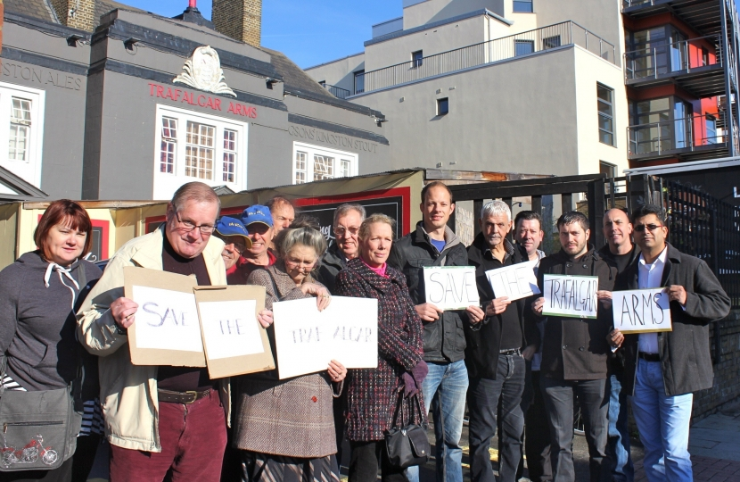 Trafalgar Arms Pub Campaigners in Tooting
