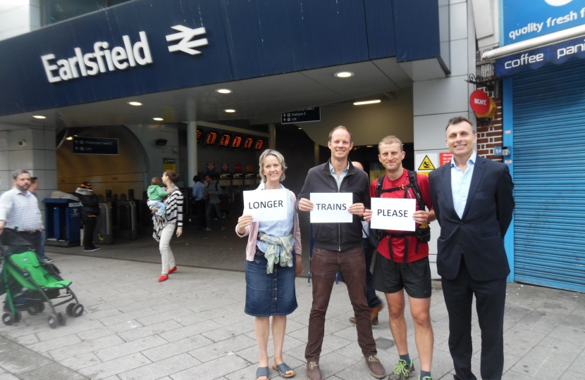 Campaiging for longer trains with local councillors