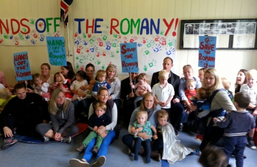 Campaign meeting at the Romany scout and playgroup site