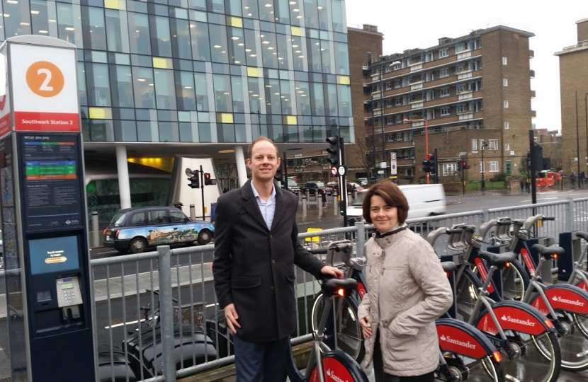 Outside TfL HQ with Jane Ellison MP