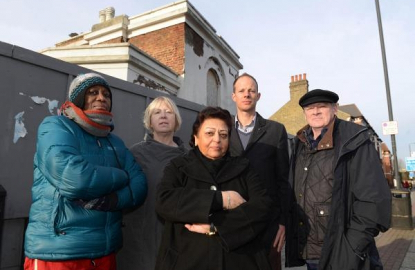 Protesting outside the deteriorating Tooting Lodge