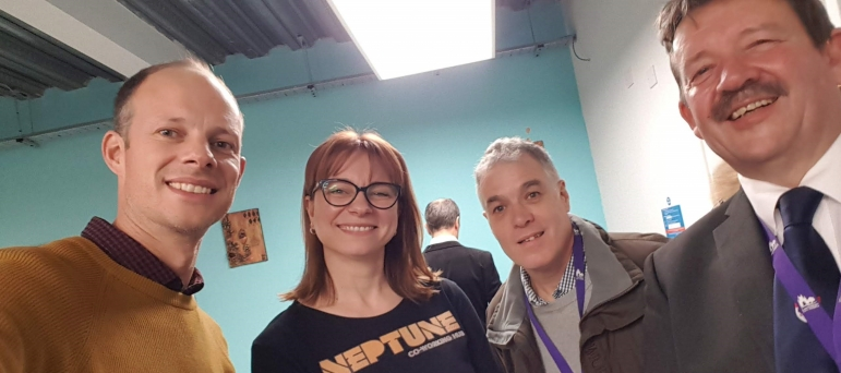 Dan Watkins at the Opening of the Neptune Co-Working Hub in Herne Bay