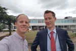 Councillor Dan Watkins meets with head of Herne Bay High, Greenhill's local secondary school